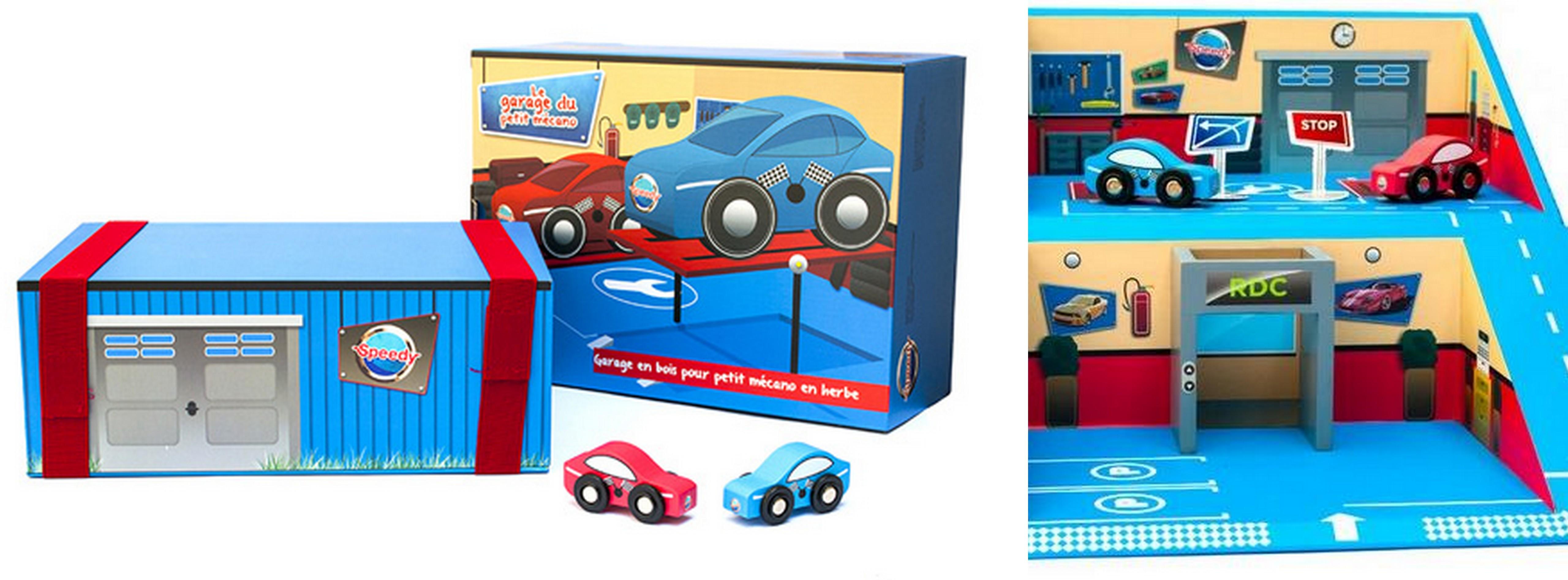 ze vais r parer la voiture dans mon garage en bois speedy flying mama. Black Bedroom Furniture Sets. Home Design Ideas