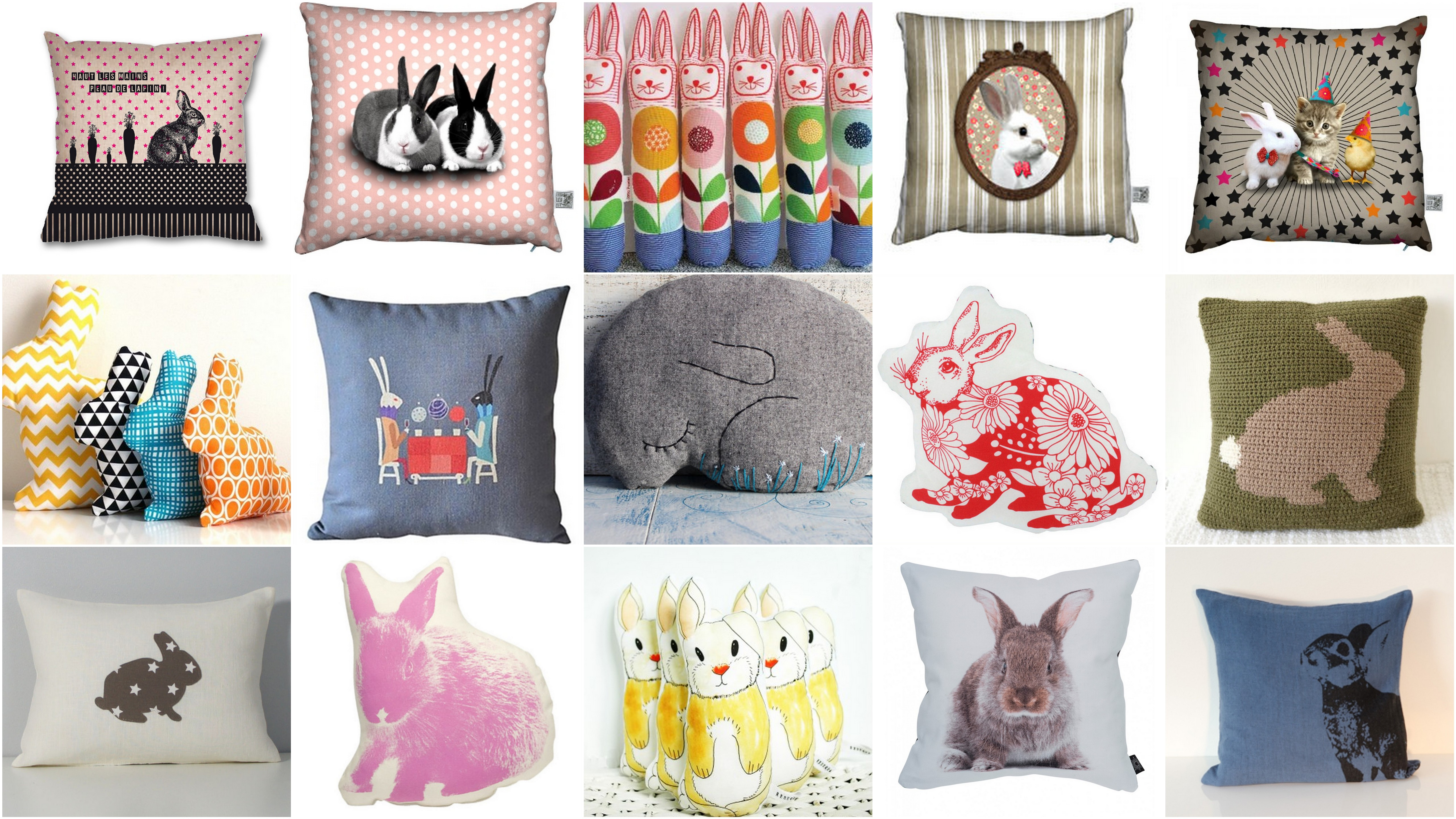 Les 10 plus beaux coussins lapin flying mamaflying mama - Beaux coussins design ...