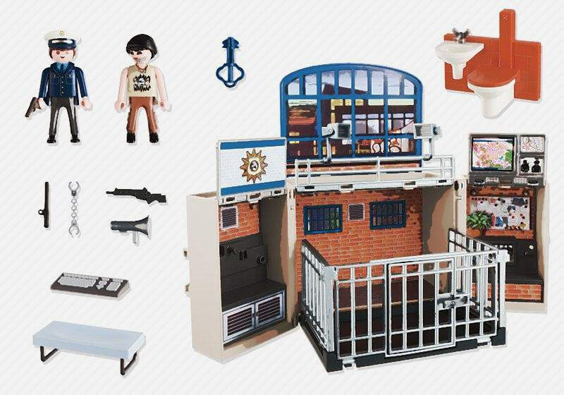 super héros poste de police playmobil 2