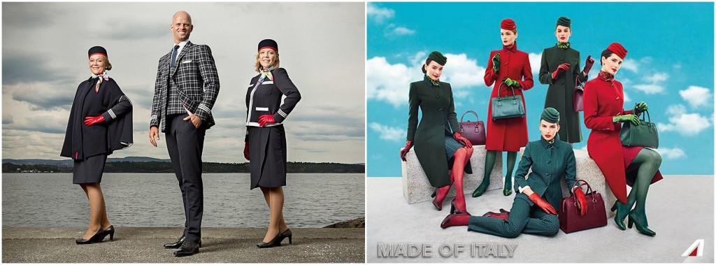 uniformes hôtesse de l'air alitalia norvegian