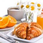 Le petit déjeuner de l'hôtesse de l'air