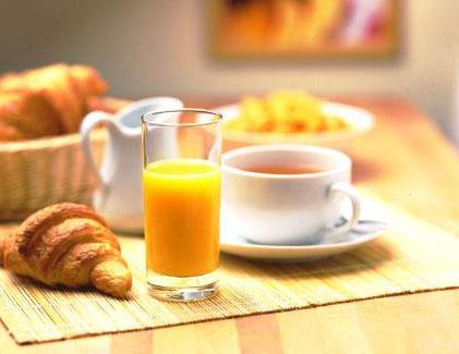petit-dejeuner de l'hôtesse de l'air